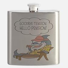 Goodbye Tension Hello Pension Retirement Flask