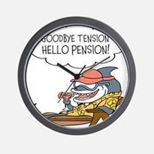 Goodbye Tension Hello Pension Retirement Wall Cloc