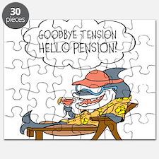 Goodbye Tension Hello Pension Retirement Puzzle