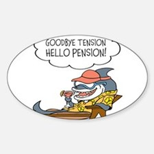 Goodbye Tension Hello Pension Retirement Decal