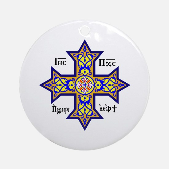 Coptic Cross Ornament (Round)