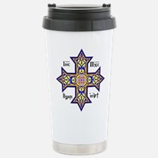 """Coptic Cross"" Stainless Steel Travel Mug"