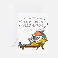Goodbye Tension Hello Pension Retirement Greeting