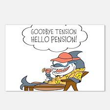 Goodbye Tension Hello Pension Retirement Postcards