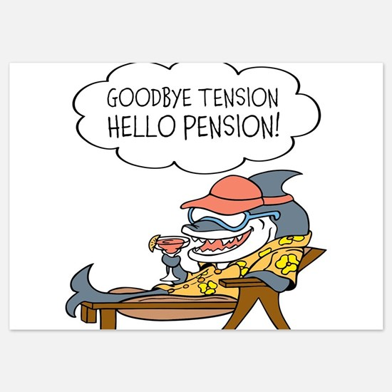 Goodbye Tension Hello Pension Retirement Invitatio