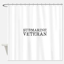 Submarine Veteran Shower Curtain