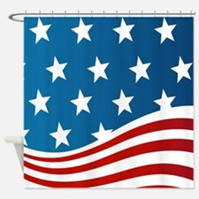 American Flag Shower Curtain