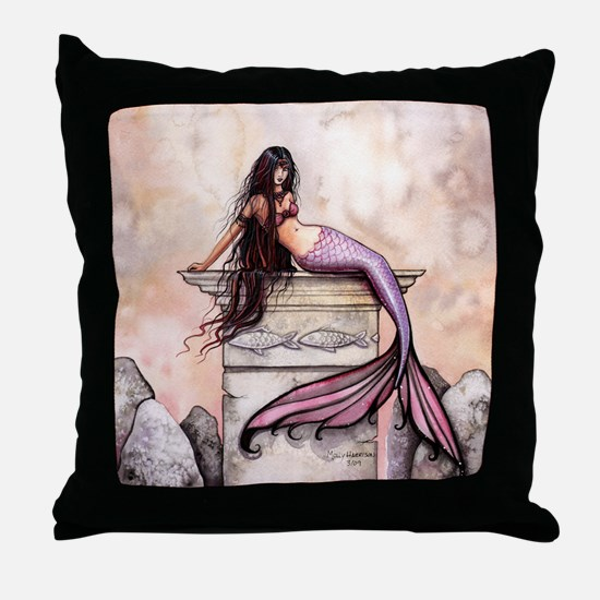 Sea Princess Mermaid Fantasy Art Throw Pillow