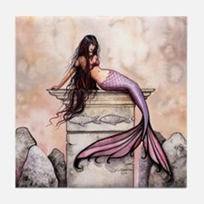 Sea Princess Mermaid Fantasy Art Tile Coaster