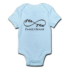 Custom Infinity Mr. and Mrs. Infant Bodysuit
