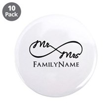 "Custom Infinity Mr. and Mrs. 3.5"" Button (10 pack)"