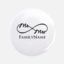 "Custom Infinity Mr. and Mrs 3.5"" Button (100 pack)"
