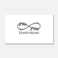Custom Infinity Mr. and Mrs. Car Magnet 20 x 12