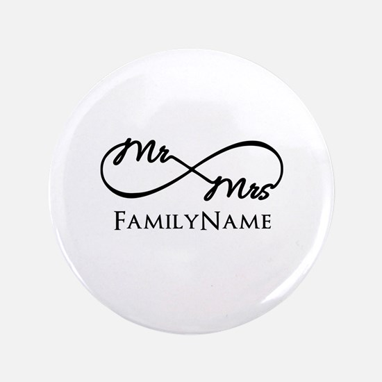 "Custom Infinity Mr. and Mrs. 3.5"" Button"