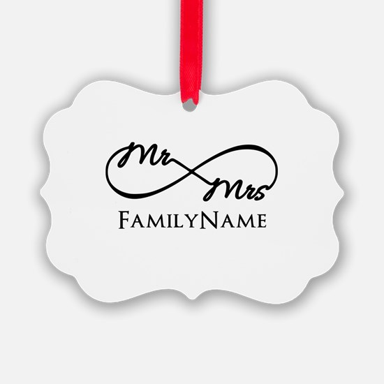 Custom Infinity Mr. and Mrs. Ornament