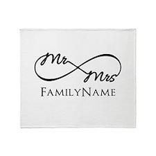 Custom Infinity Mr. and Mrs. Throw Blanket