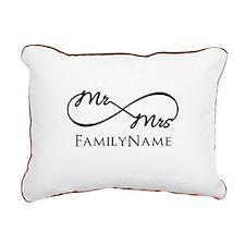 Custom Infinity Mr. and Rectangular Canvas Pillow