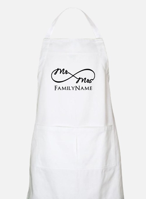 Custom Infinity Mr. and Mrs. Apron