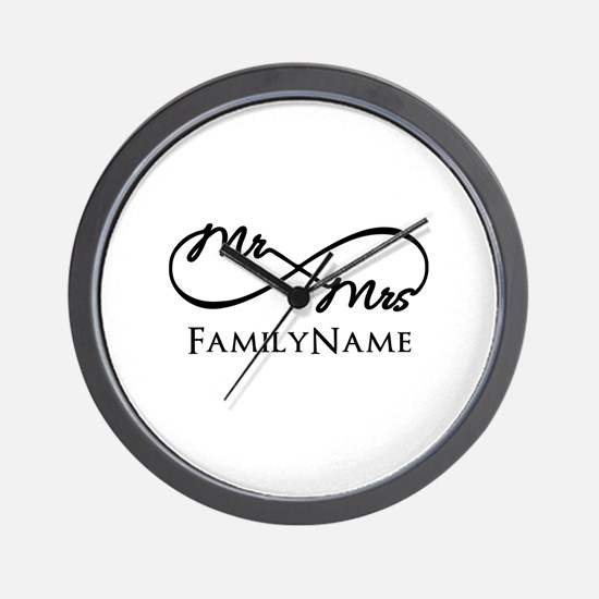 Custom Infinity Mr. and Mrs. Wall Clock