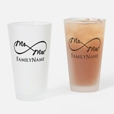 Custom Infinity Mr. and Mrs. Drinking Glass