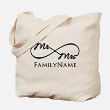 Custom Infinity Mr. and Mrs. Tote Bag