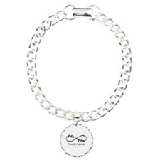 Custom Infinity Mr. and Charm Bracelet, One Charm