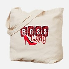 Boss Lady Red Leopard Tote Bag