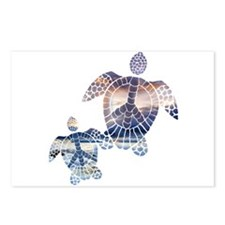 Peace Turtles-2 Postcards (Package of 8)