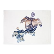 Peace Turtles-2 5'x7'Area Rug