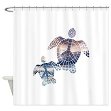Peace Turtles-2 Shower Curtain