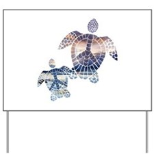 Peace Turtles-2 Yard Sign