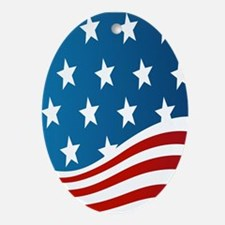 American Flag Ornament (Oval)