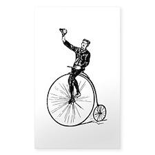 Vintage Gent On Bicycle Decal