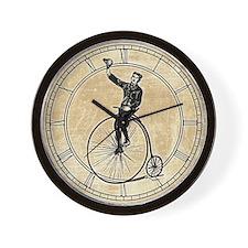 Vintage Gent On Bicycle Wall Clock