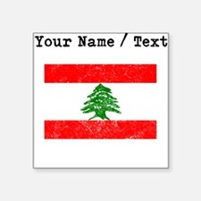 Custom Distressed Lebanon Flag Sticker