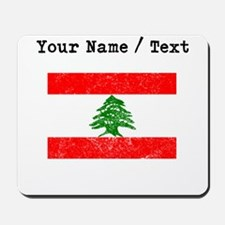 Custom Distressed Lebanon Flag Mousepad