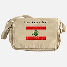 Custom Distressed Lebanon Flag Messenger Bag