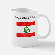 Custom Distressed Lebanon Flag Mugs