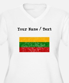 Custom Distressed Lithuania Flag Plus Size T-Shirt
