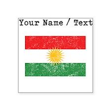 Custom Distressed Kurdistan Flag Sticker