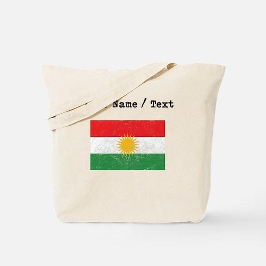 Custom Distressed Kurdistan Flag Tote Bag