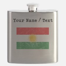 Custom Distressed Kurdistan Flag Flask