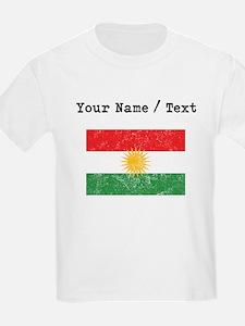 Custom Distressed Kurdistan Flag T-Shirt