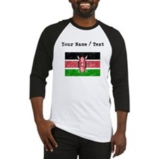 Custom Distressed Kenya Flag Baseball Jersey