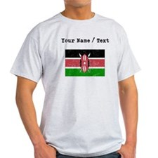 Custom Distressed Kenya Flag T-Shirt
