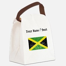 Custom Distressed Jamaica Flag Canvas Lunch Bag