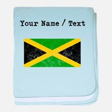 Custom Distressed Jamaica Flag baby blanket