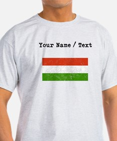 Custom Distressed Hungary Flag T-Shirt