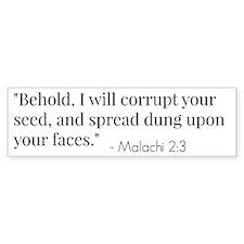 Malachi 2:3 Verse Bumper Bumper Sticker