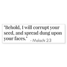 Malachi 2:3 Verse Bumper Car Sticker